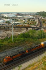BNSF and UP Train Meet